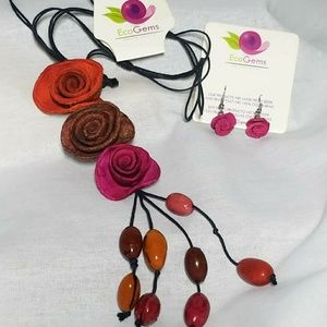 Hand Crafted Necklace & Earring Set